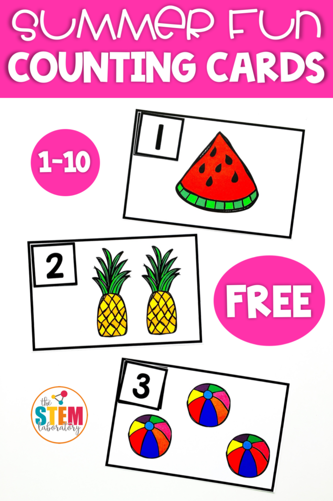 Free Summer Counting Cards by The STEM Laboratory.