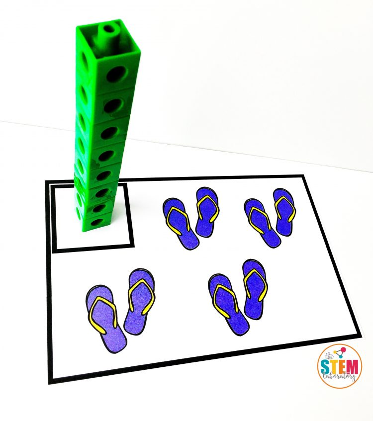 Free Summer Counting Cards by The STEM Laboratory work with any math manipulative you want to use!