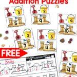 Sandcastle Addition Puzzles