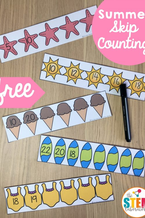 Summer Skip Counting Cards
