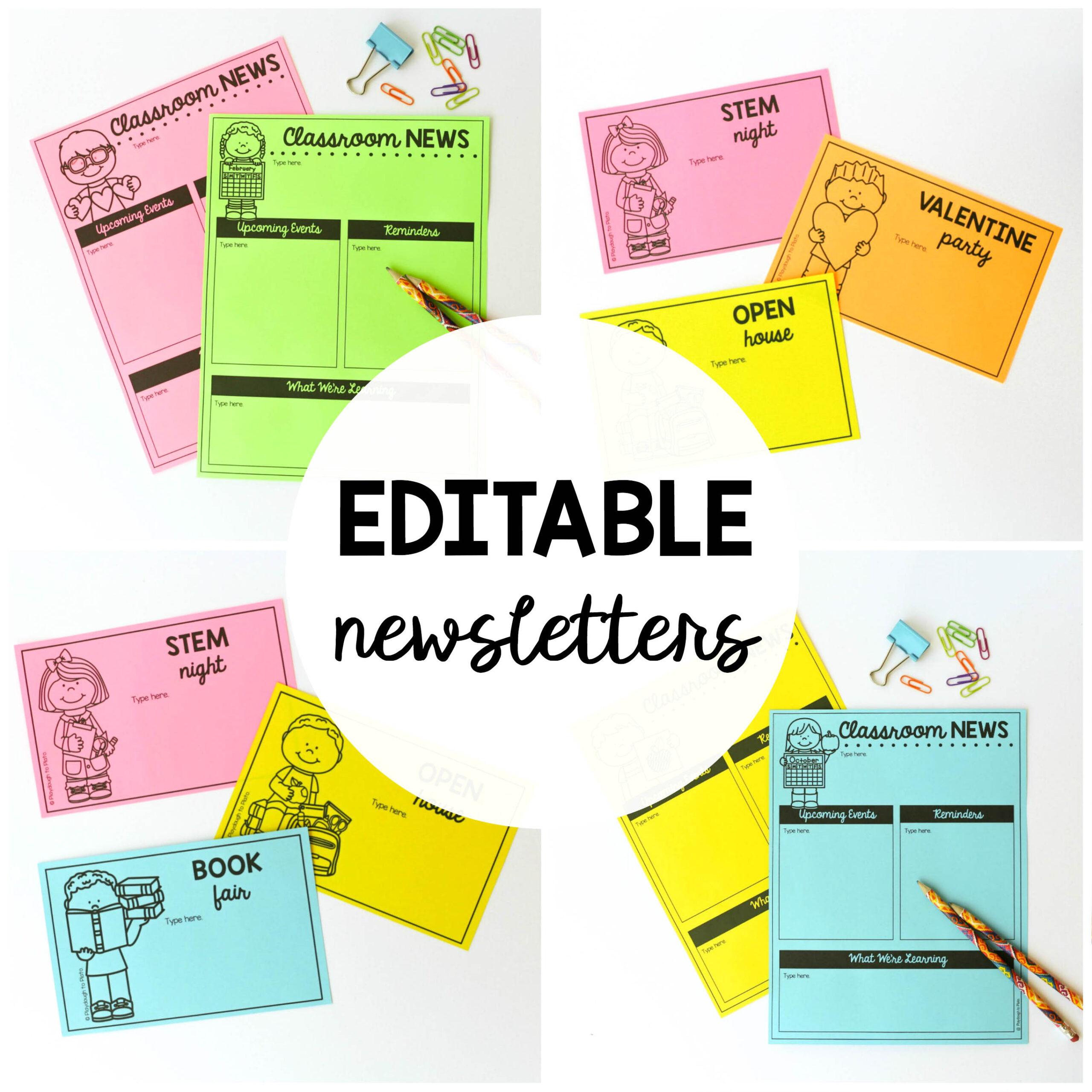 Editable Newsletter Templates The Stem Laboratory