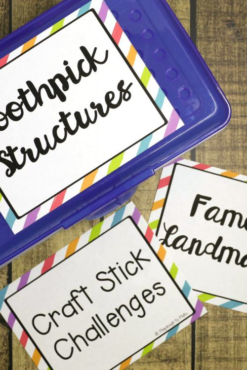 Editable STEM Box Labels