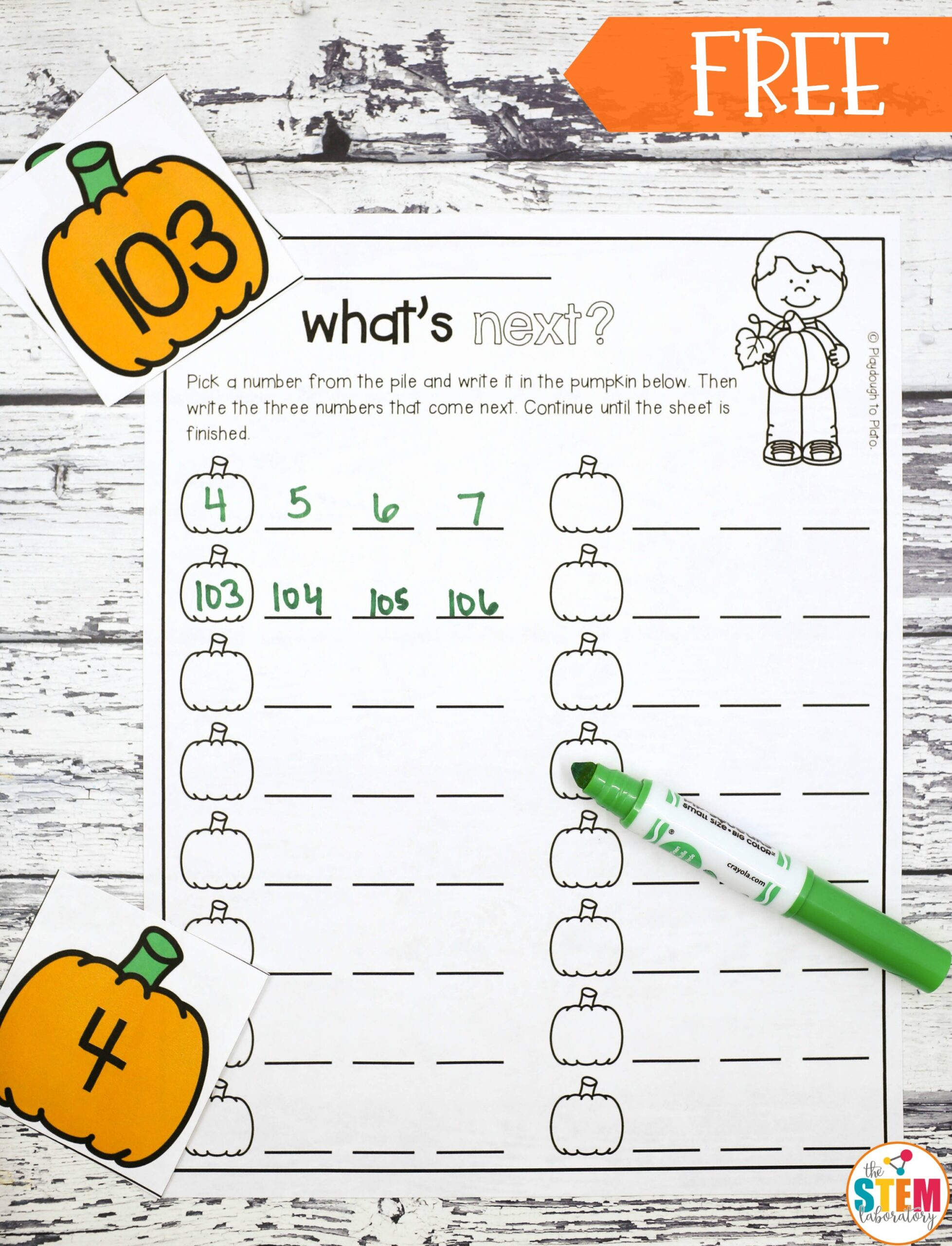 Pumpkin Number Sequencing