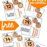 Teen Number Pumpkin Puzzles