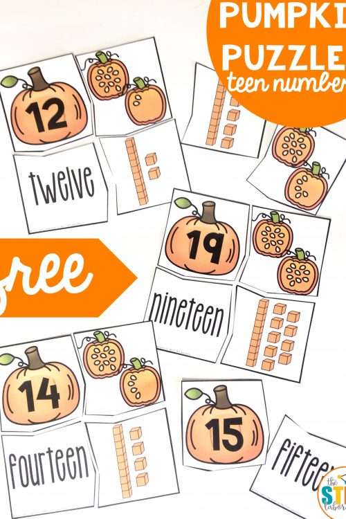 Teen Number Pumpkin Puzzles