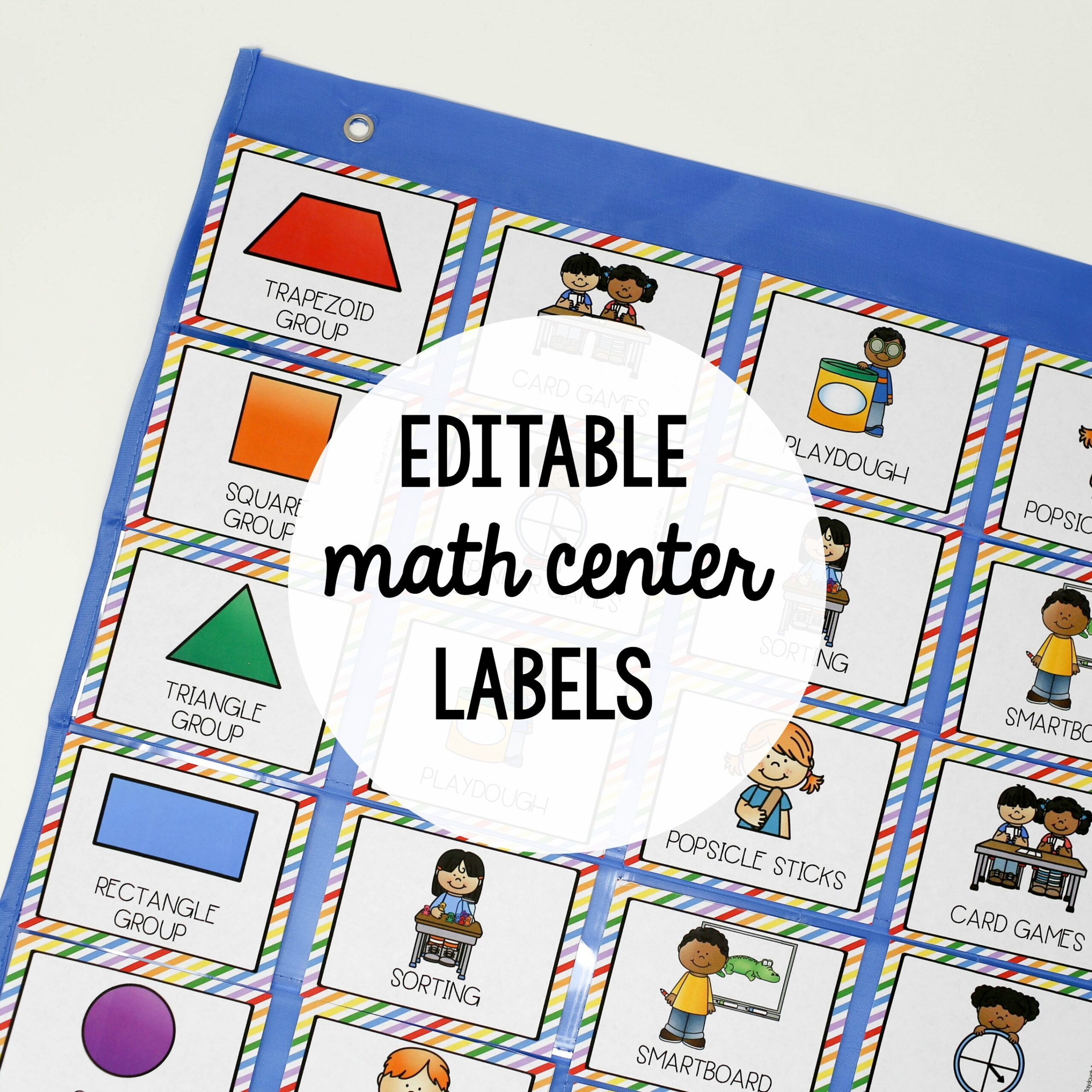 EDITABLE Math Center Labels