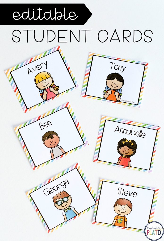 Graph of the Week-editable student cards