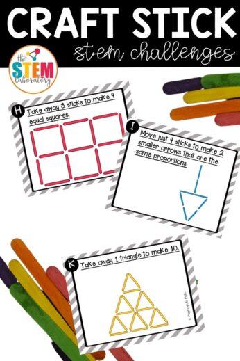 Craft Stick STEM Challenges