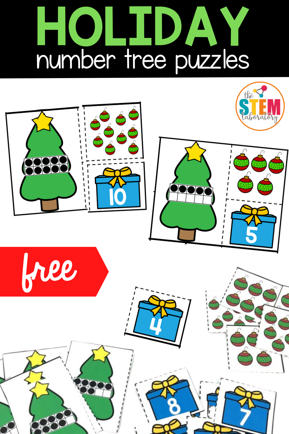 Holiday Trees Number Puzzles