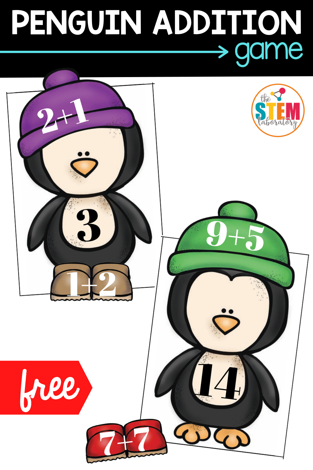 Penguin Addition Practice Game