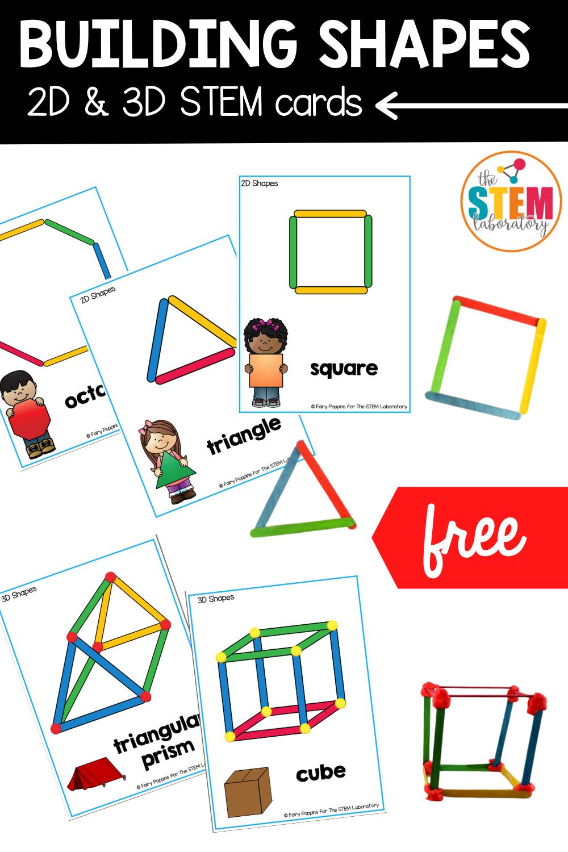 Building Shapes STEM Cards