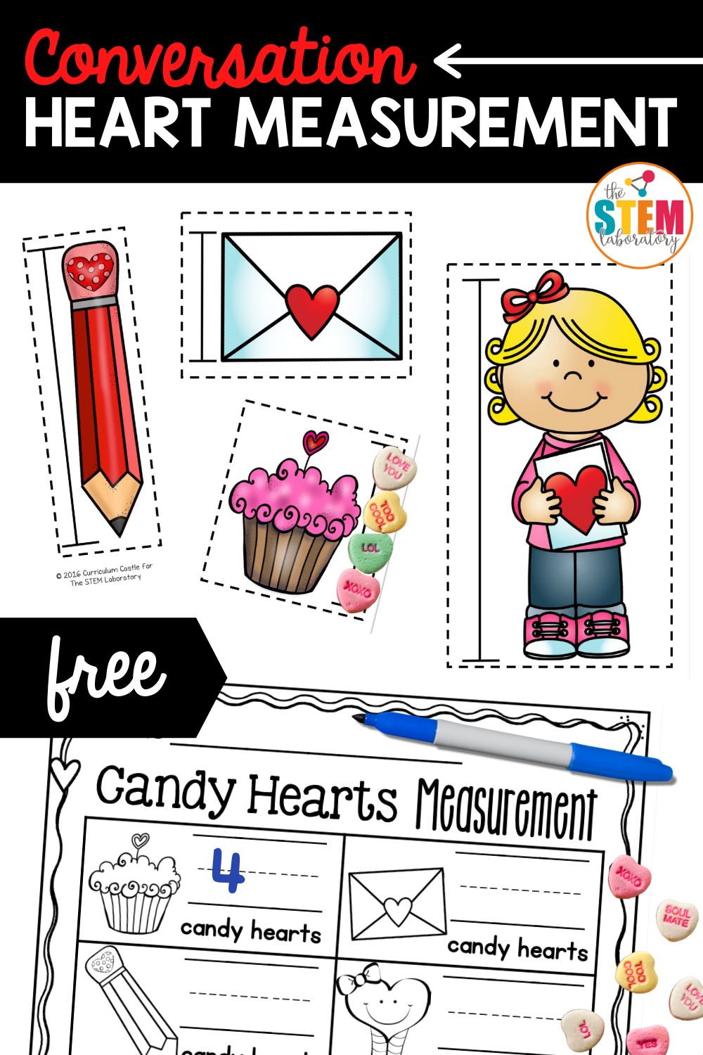 Conversation Heart Measurement Activity