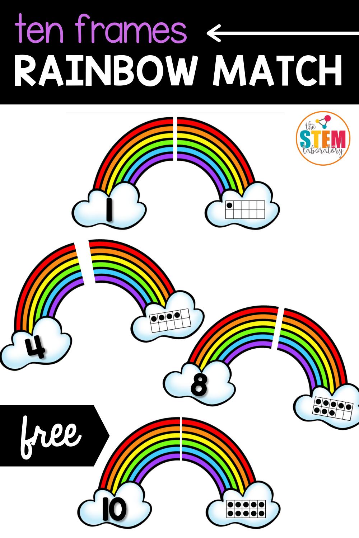 Ten Frames Rainbow Match