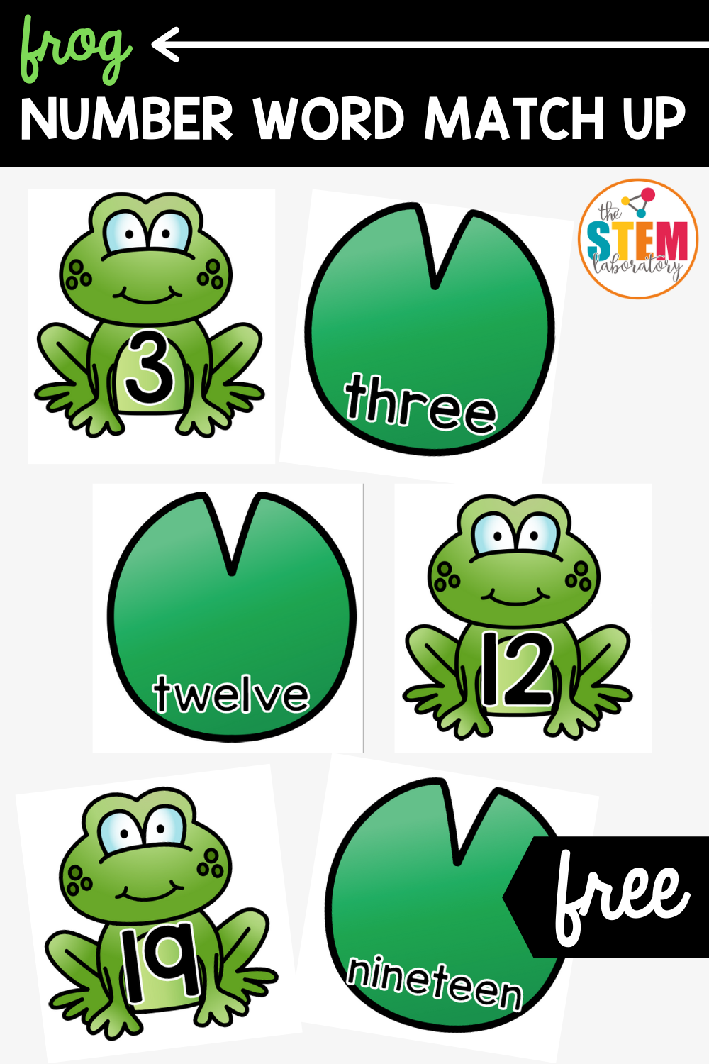Frog Number Word Match Up