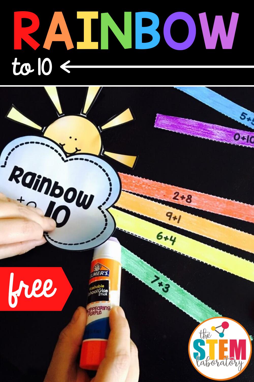Rainbow to 10 Math Craftivity
