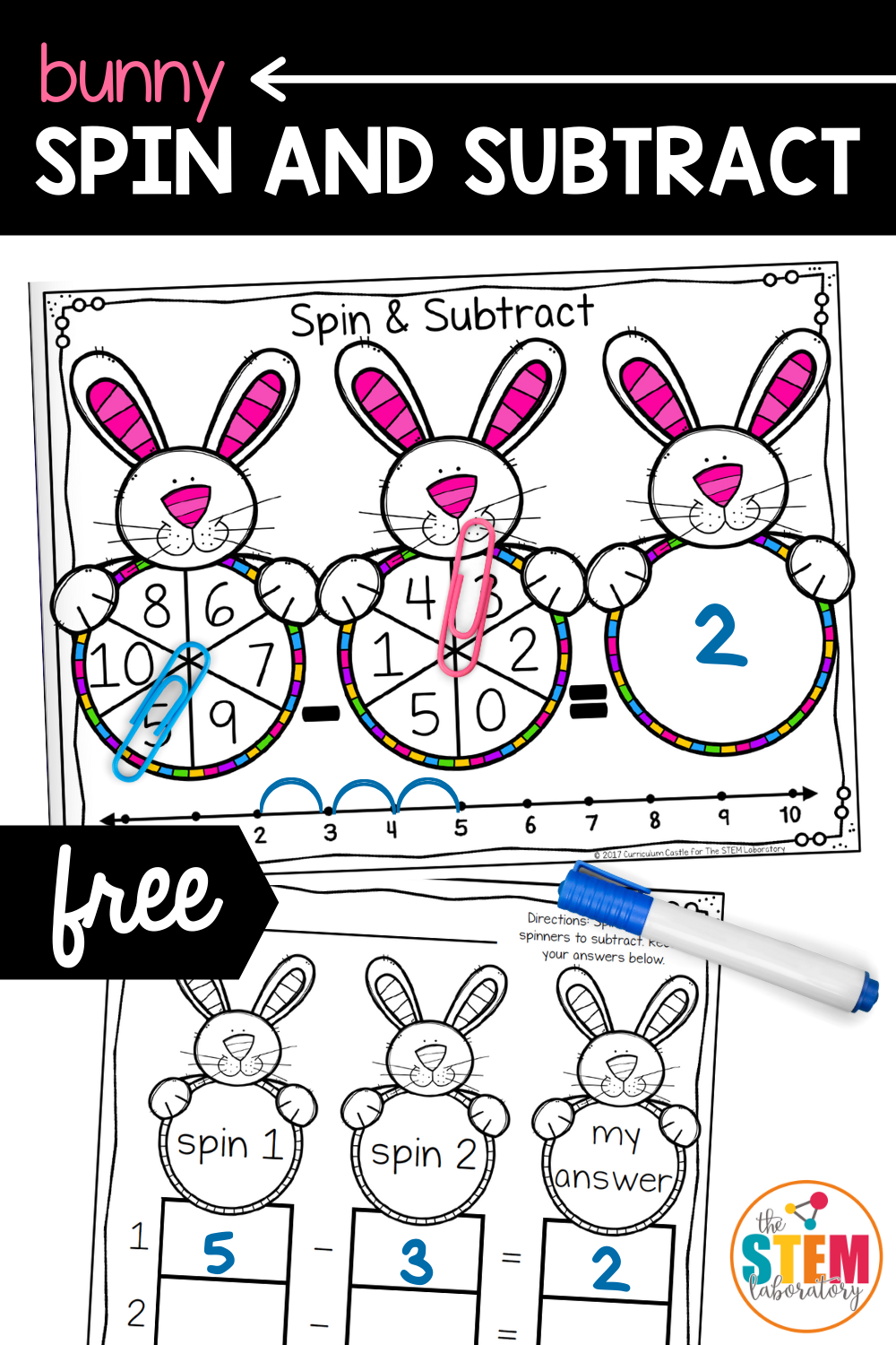 Bunny Spin and Subtract Game