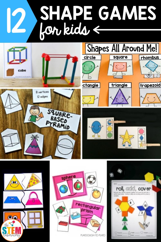 12 Shape Games for Kids