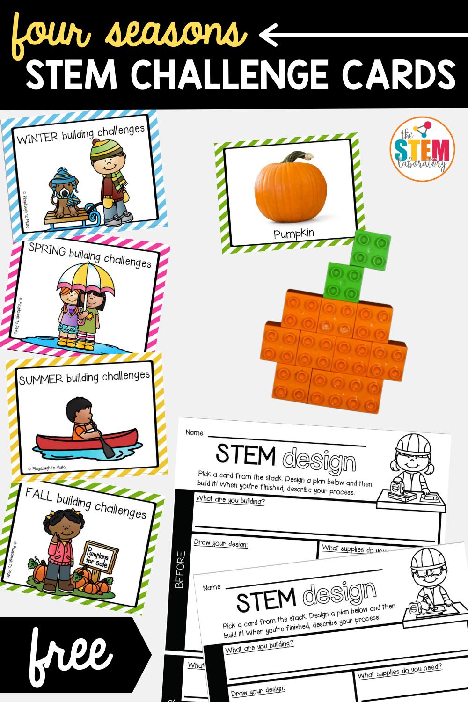 4 Seasons STEM Challenge Cards