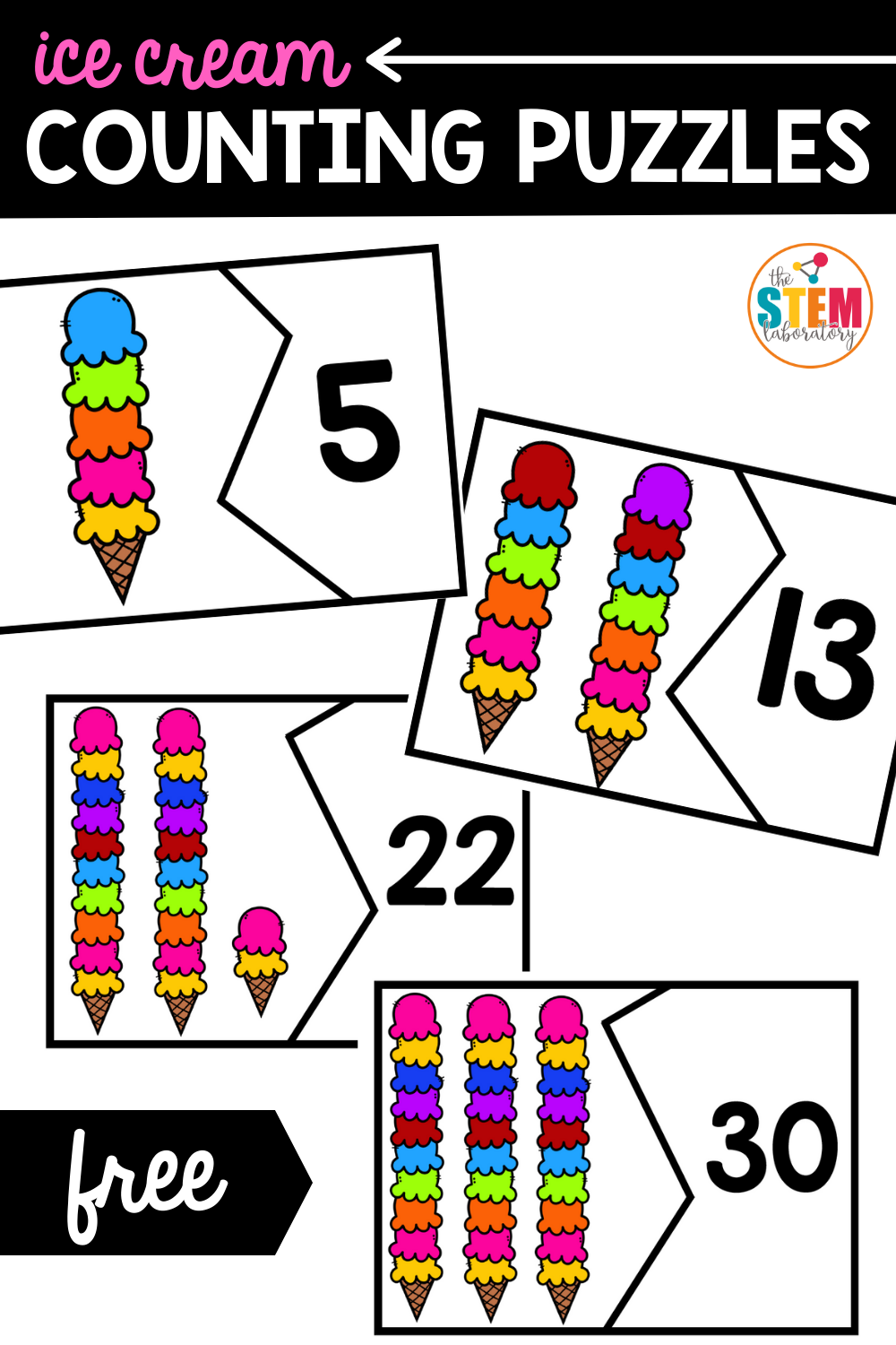 Ice Cream Counting Puzzles