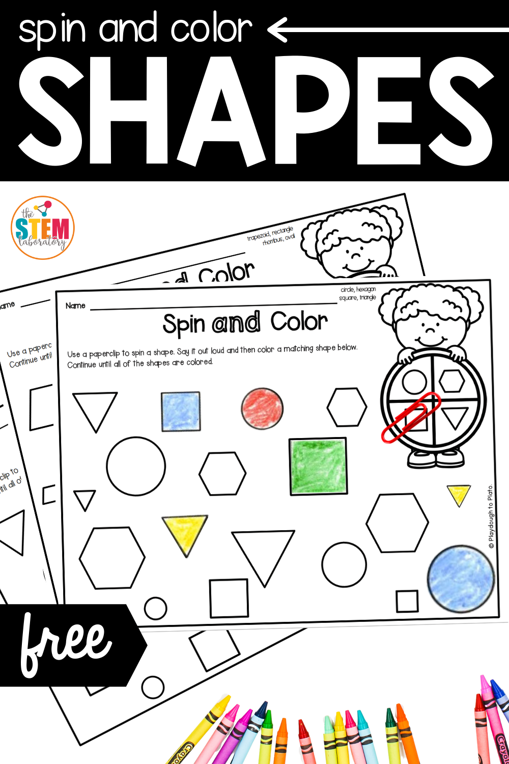 Spin and Color Shapes Game