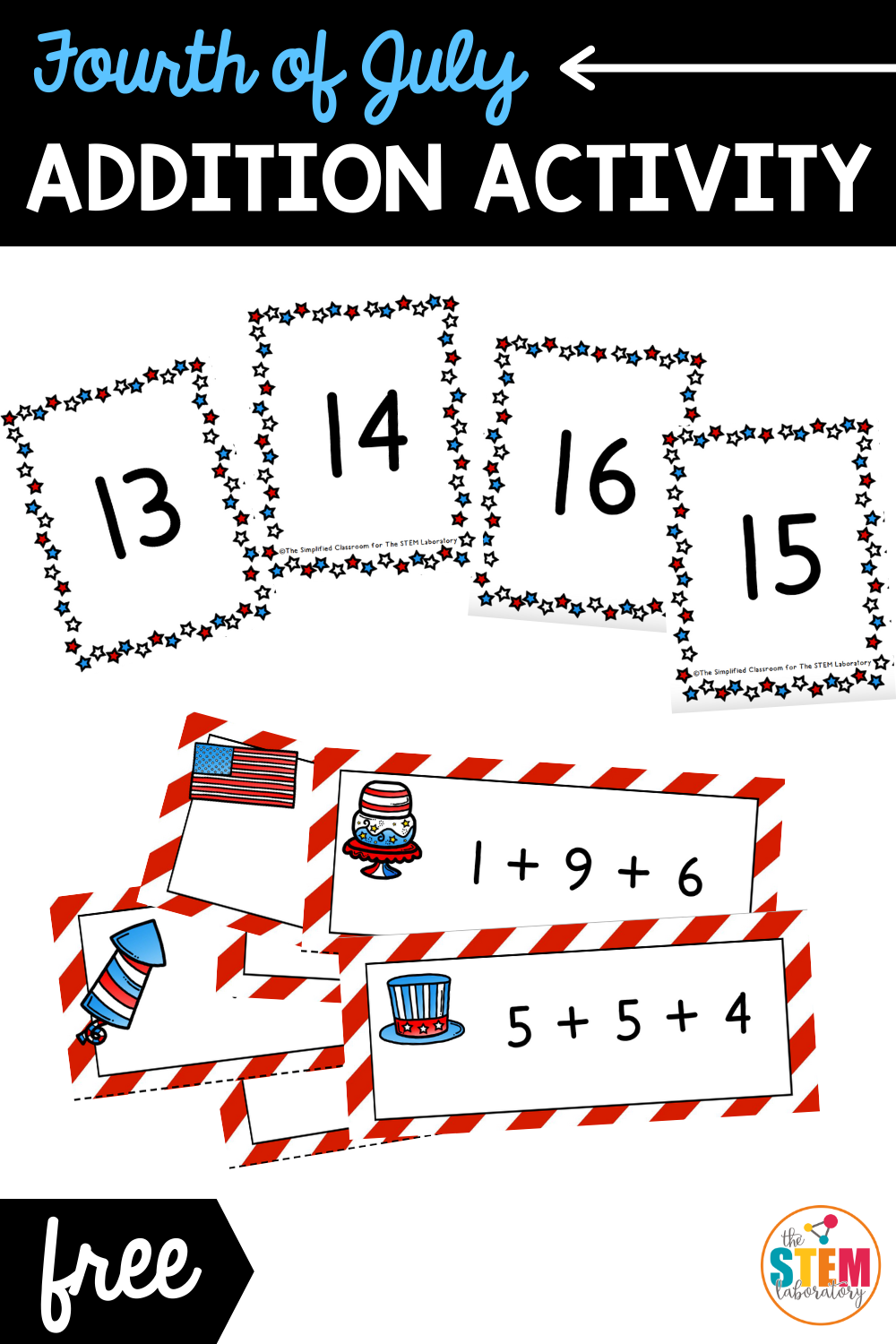 Fourth of July Addition Activity