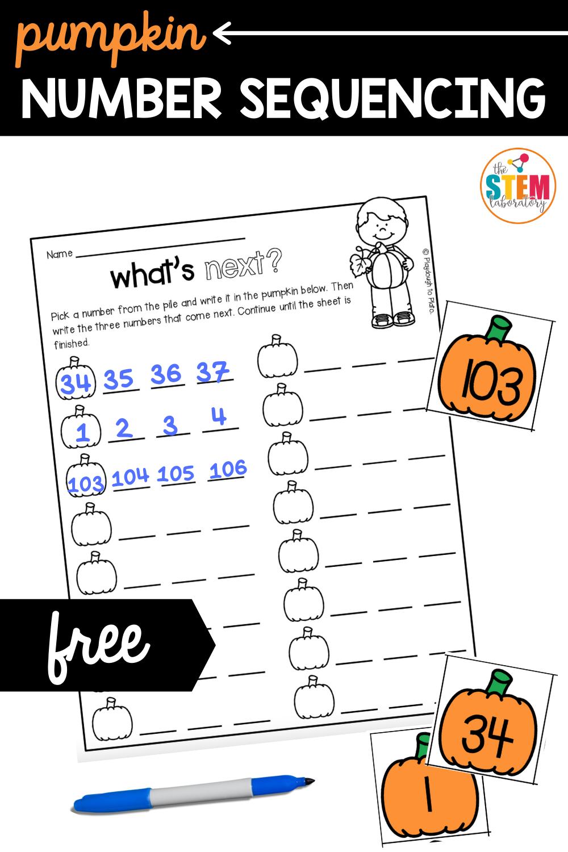 Pumpkin Number Sequencing