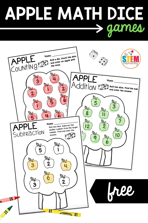 Apple Math Dice Games