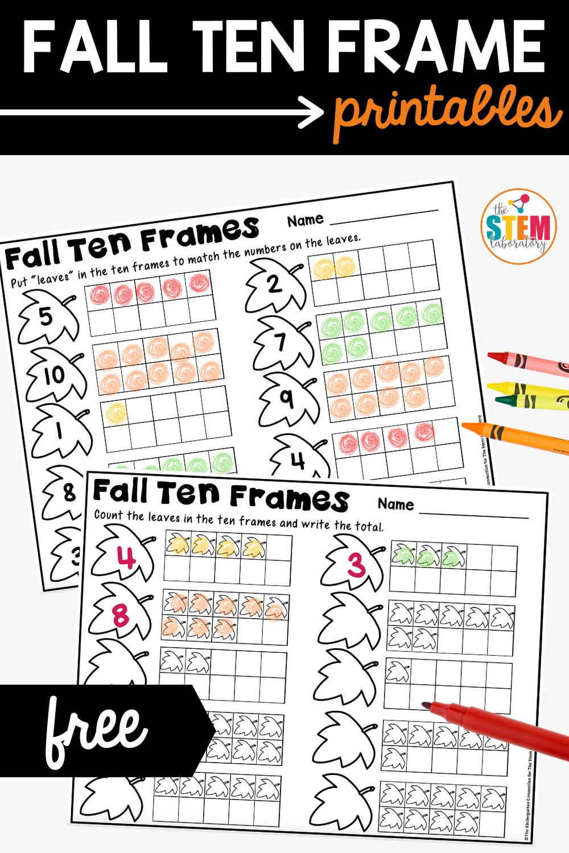Fall Ten Frame Printables